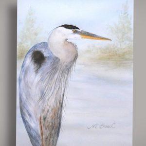 Great Blue Heron Original Watercolor (Unframed)