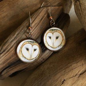 Barn Owl Art Print Earrings