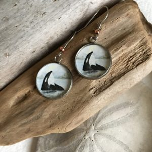 Orca Art Print Earrings
