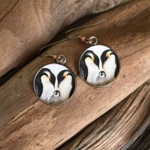 Penguin Family Art Print Earrings