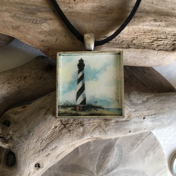 Cape Hatteras Lighthouse Art Print Pendant