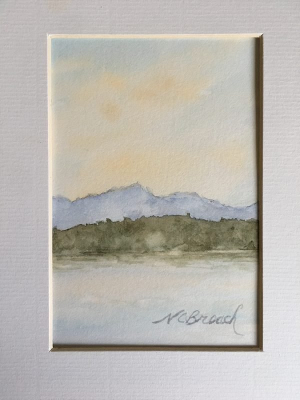 Misty Morning on the Puget Sound Original Watercolor