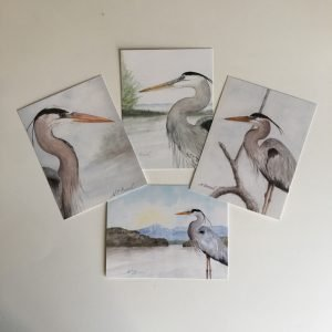 Set of 8 Great Blue Heron Postcards